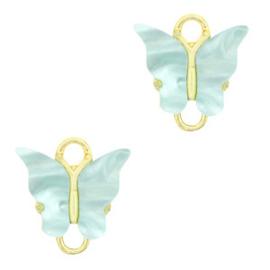 Tussenzetsel vlinder Gold-light blue