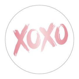 Kadosticker XOXO Roségoud (mat)