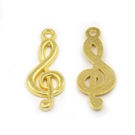 Bedel muzieksleutel goud