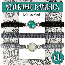 Macramé bandjes DIY pakket black