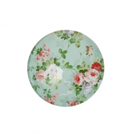Cabochon plaksteen bloemen turquoise 20mm