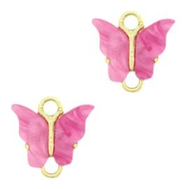 Tussenzetsel vlinder Gold-pink