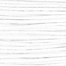 Waxkoord 1.0 mm Wit