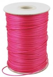 Waxkoord fel roze 1mm
