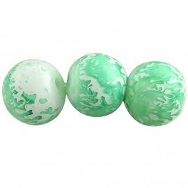 Glasperlen baked painted green 4mm