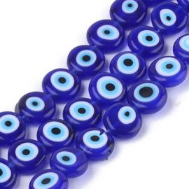 Glaskraal evil eye lampwork blue