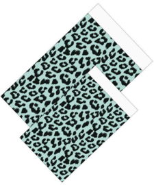 Cadeauzakjes Leopard mint/zwart 12x19cm