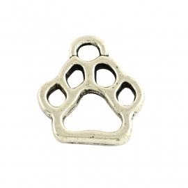 Bedel hondenpoot zilver (bulk)