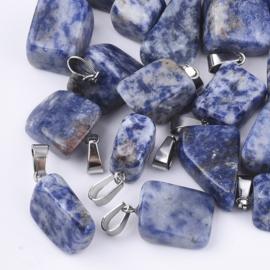 Bedel Blue Spot Stone nugget zilver