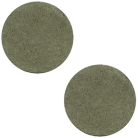 Leer cabochons dark olive green 12mm (DQ)