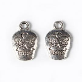 Bedel sugar skull zilver