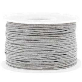Waxkoord 1.0 mm Light grey