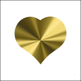 Sticker hart glans goud
