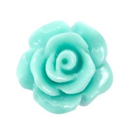 Rose shiny turquoise