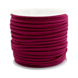 Elastic 2.5mm aubergine red