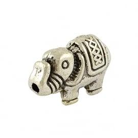 Metall perlen olifant silber