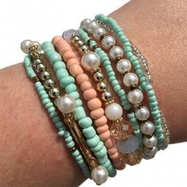 Armbandjes 'pastel'