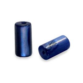 Schelp kralen tube Montana blue