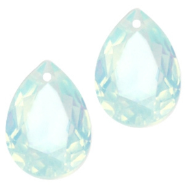 Drop light blue turquoise opal