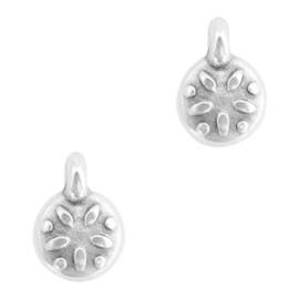 Bedel DQ metaal bloemetje Zilver (nikkelvrij)