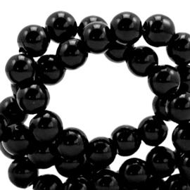 Glaskralen opaque 4mm Black