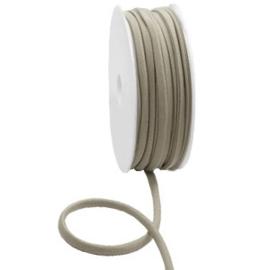 Stitched elastisch lint Ibiza metallic taupe