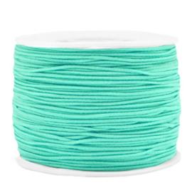 Gekleurd elastisch draad 1.2mm Neo mint green