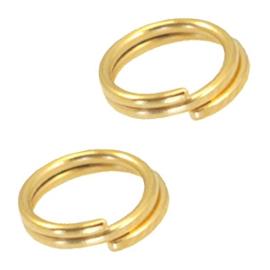 Splitring /double ring 6mm goud