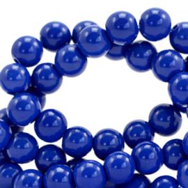 Glaskralen opaque 4mm Strong blue