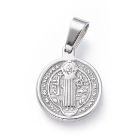 Bedel RVS virgin Saint Benedict zilver