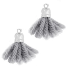 Tassel Ibiza style silber-anthracite grey