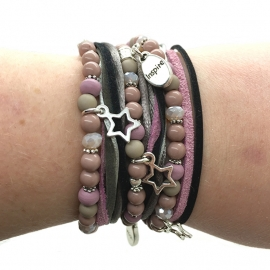 Inspiration armband 'pink wrapped'