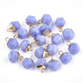 Bedel facet gemstone jade blue gold