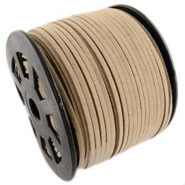 Suede kabel cognac 3mm