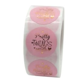 Sticker ''pretty things inside'' pink