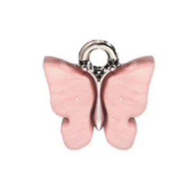 Bedel vlinder roze zilver