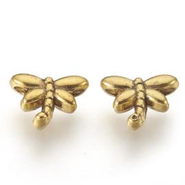 Kraal libelle 8mm goud