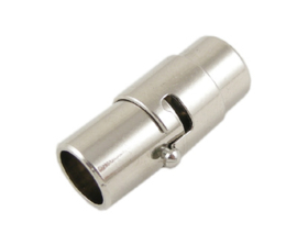 Magneetsluiting rond 6mm zilver
