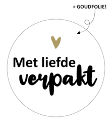 Sticker Met liefde verpakt!