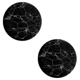 Cabochon stone look 12mm black