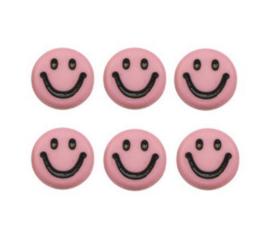 Letterkralen van acryl smiley zalm
