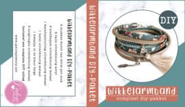 Wikkelarmband DIY-pakket petrol