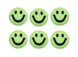 Letterkralen van acryl smiley groen