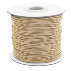 Elastic taupe brown 1mm