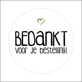 Sticker ''Bedankt voor je bestelling'' XXL