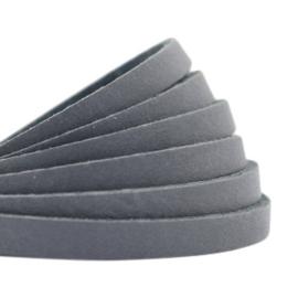 Leer plat 5mm dark grey (DQ)