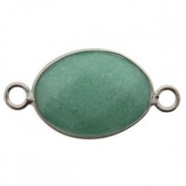 Tussenzetsel jade facet groen zilver