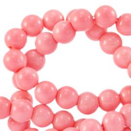 Glaskralen opaque Sweet fruit dove pink 6mm