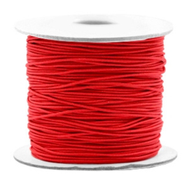 Elastiek rood 1mm (bulk)