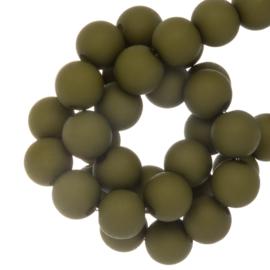 Acryl Kralen Mat Pea Green 4mm